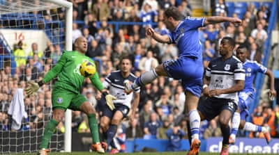 Chelsea's goal came from a Frank Lampard free-kick that deflected off goalkeeper Tim Howard [Reuters]