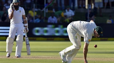 Hashim Amla makes Australia toil as he finishes the day on 93 not out [AFP]
