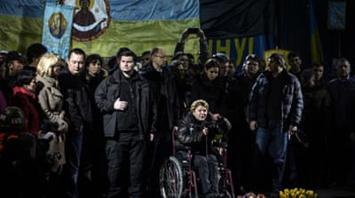 Freed Tymoshenko addresses Ukraine protesters