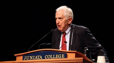 Daniel Ellsberg leaked thousands of pages of a top-secret study on the Vietnam War [Sadie Luetmer/Al Jazeera]