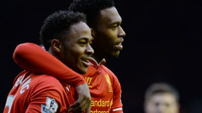 Daniel Sturridge and Jordan Henderson both netted twice for Liverpool as they beat-off Swansea 4-3 [AFP]