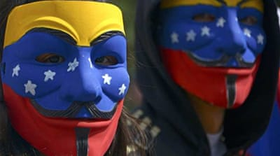 Rival protests continue in Venezuela