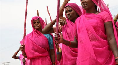 The Gulabi Gang now boasts of 400,000 members spread across 11 Uttar Pradesh districts [Supplied]