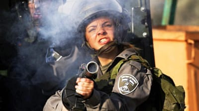 Protesters are often fired on with tear gas or even live rounds at demonstrations in the West Bank [EPA]