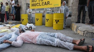 Several protests have erupted in recent years against Jordan's push to develop nuclear power [EPA]