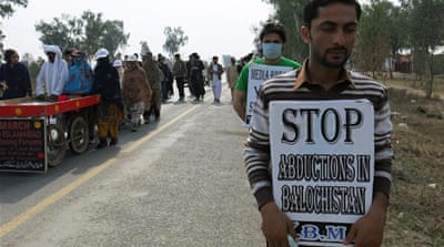 The Baluch group reached Islamabad on Thursday after a nearly 2,300km trek [Asad Hashim/Al Jazeera]