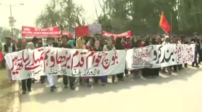 Baluch activists march on Pakistan capital