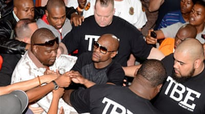 Floyd Mayweather Jr. will consult fans on who to defend his titles against [Getty Images]