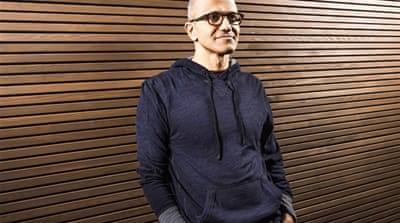 Indian-born Nadella, 46, has been an executive in some of the company's fastest-growing businesses [Reuters]
