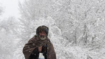 Afghanistan is hit by a winter storm