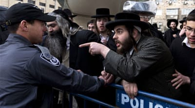 Ultra-Orthodox Jews have for years been exempt from military service, which is compulsory for other Israelis [EPA]