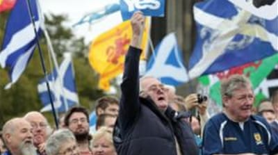 Polls show increasing support for the 'yes' campaign, led by the Scottish National Party [EPA]