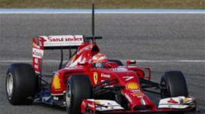 Ferrari's new F14 T has been described as a vacuum cleaner due to it new nose [Reuters]