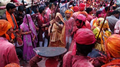 Holi is primarily celebrated in India, Nepal and other countries with large Hindu populations [Al Jazeera]