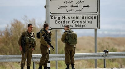 The Allenby Bridge is the only crossing point for Palestinians travelling through the West Bank to Jordan [Reuters]