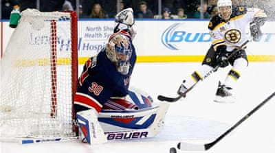 Lundqvist made 30 saves in shutting out the Red Wings for the second time this season [AFP]