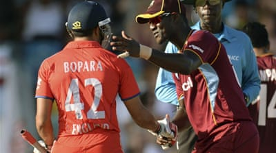 Bopara lost 25 per cent of his match fee while Sammy and Samuels lost 20 and 10 per cent respectively [Reuters]