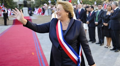 Bachelet sworn in again as Chile's president