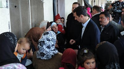 The Syrian leader rarely makes public appearances, and most of those have been within the capital [AP]
