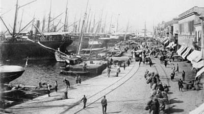 Between the 1800s and 1950s, the Levant's port cities were beacons of trade and French-style Westernisation, writes Athanasiadis [AFP]