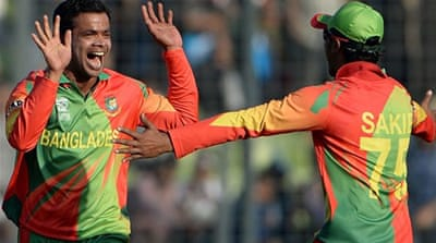 Bangladesh gained revenge against Afghanistan, who beat them during the Asia Cup [AFP]