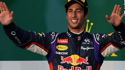 Fans were jubilant that Ricciardo had apparently become the first Australian to finish on the podium at home [AFP]