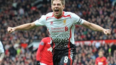 Steven Gerrard scored two penalties and missed another as Liverpool beat their old rivals [AFP]