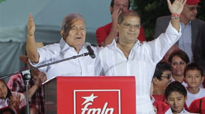 The FMLN's Salvador S?nchez Cerén has publicly called for reconciliation and unity over the past week [EPA]