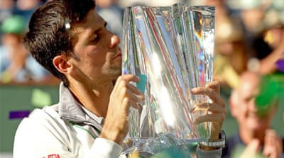 Novak Djokovic came into Indian Wells for the first time in four years without a title [AFP]