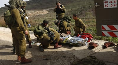 Tuesday's explosion in the Israeli-occupied Golan Heights wounded four Israeli soldiers [Reuters]