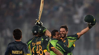 Shahid Afridi snatched victory from the jaws of defeat in the match against India [AFP]