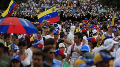 Large protests in Venezuela despite carnival