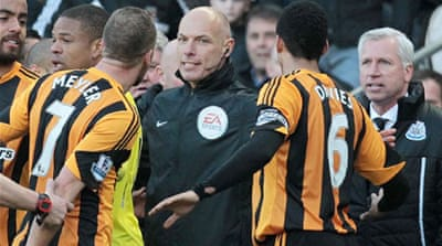 Pardew was sent to the stands after the confrontation and may face a ban [AFP]