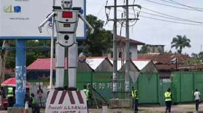 DR Congo recruits robots as traffic police