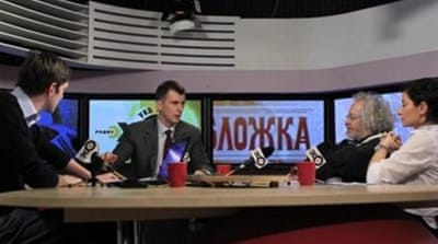Radio Ekho Moskvy's website was temporarily blocked by Russian authorities [AP]