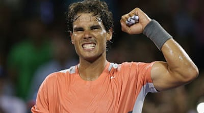 Nadal won 6-1, 6-3 in an hour as the world number one looks to claim a maiden victory at the Miami Open [AFP]