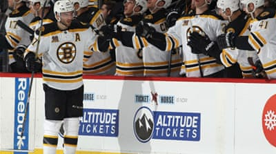 The Bruins are two wins short of the club mark of 14 straight, and have the most points in the NHL with 103 [AFP]