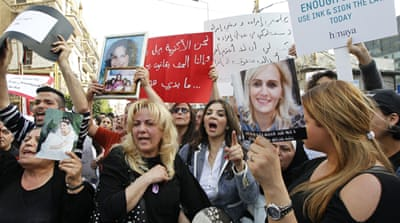 Women decry Lebanon's domestic violence law