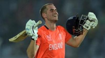Alex Hales' ton was the first by an England batsman in Twenty20 internationals  [AFP]