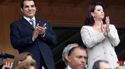 Ousted Tunisian President Zine El Abidine Ben Ali, his wife Leila and their friends once controlled 21 percent of net private sector profits in Tunisia by manipulating regulations to favour their own companies [AFP]