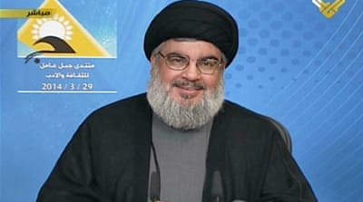 Nasrallah says Hezbollah fighters were defending Syria and their own country from the scourge of extremists [AFP]
