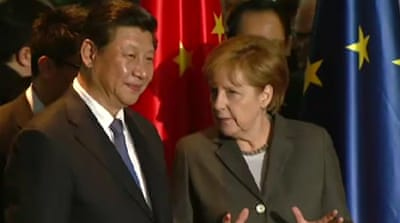 China's Xi meets Germany's Merkel