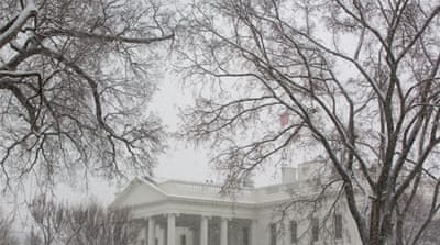 Snow is expected to head northeast through Monday with Washington DC expecting between 15 and 30cm [AFP]