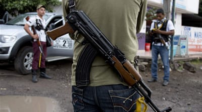 The vigilantes say they have have a 20,000-strong force to combat the country's most notorious drug cartel [AP]