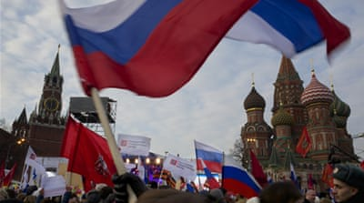 Russia rallies support for Crimea breakaway