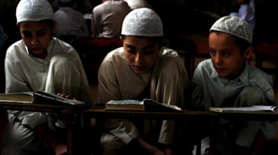 In Bangladesh, 16,000 madrassas serve about 5.5 million pupils [EPA]