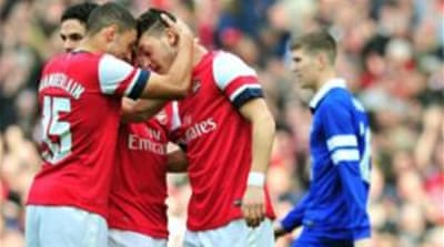 With Arsenal trailing Chelsea by four points in the league, the FA Cup remains the club's only hope of silverware  [AFP]