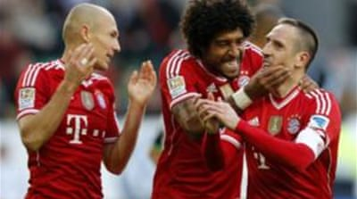 Bayern Munich were down 1-0 before they managed to score six goals [Reuters]