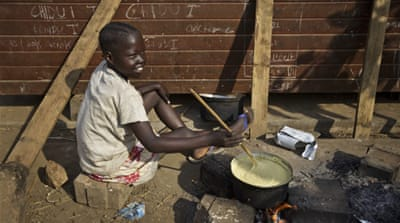 South Sudanese struggle to get enough to eat