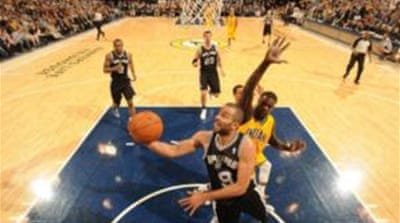 Tony Parker (#9) scored 22 points, the most by any player in the game [AFP]